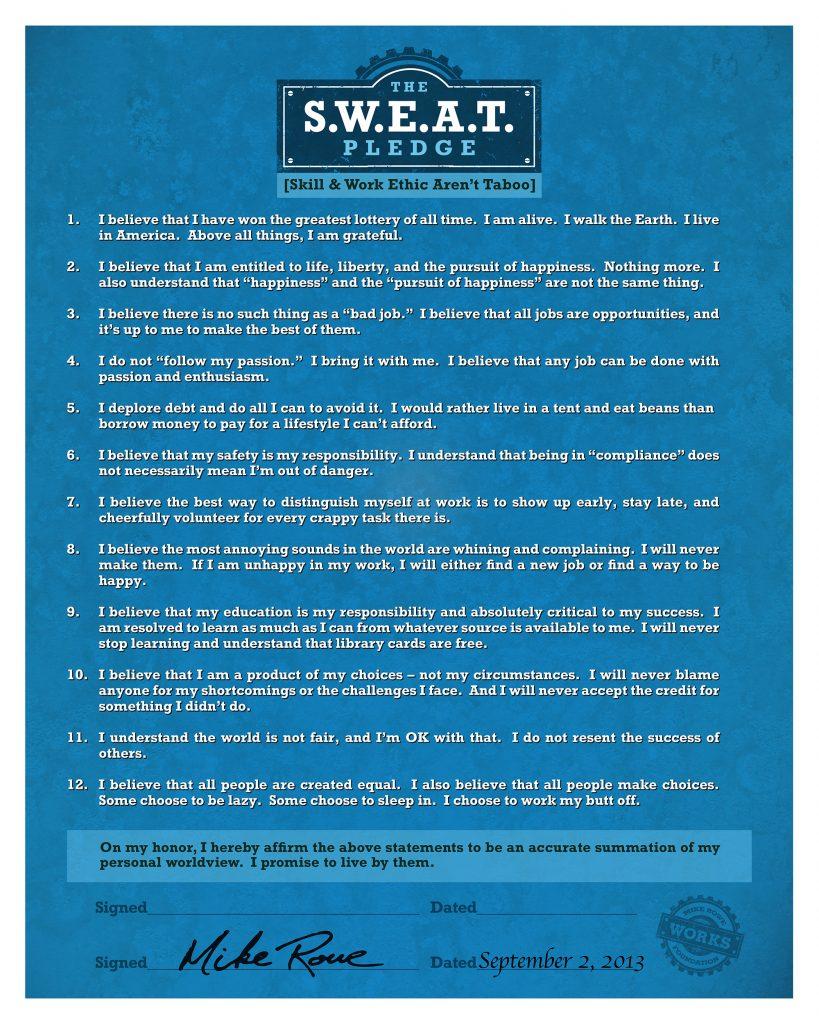 S.W.E.A.T. Pledge